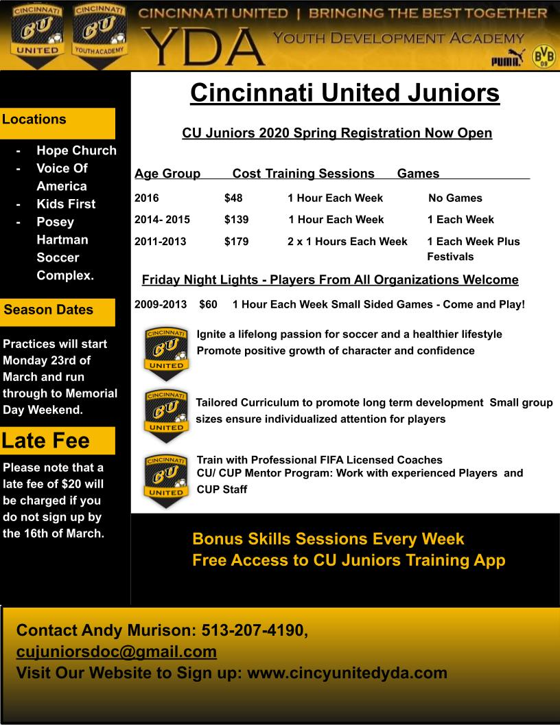 Sign Up For Juniors Today!