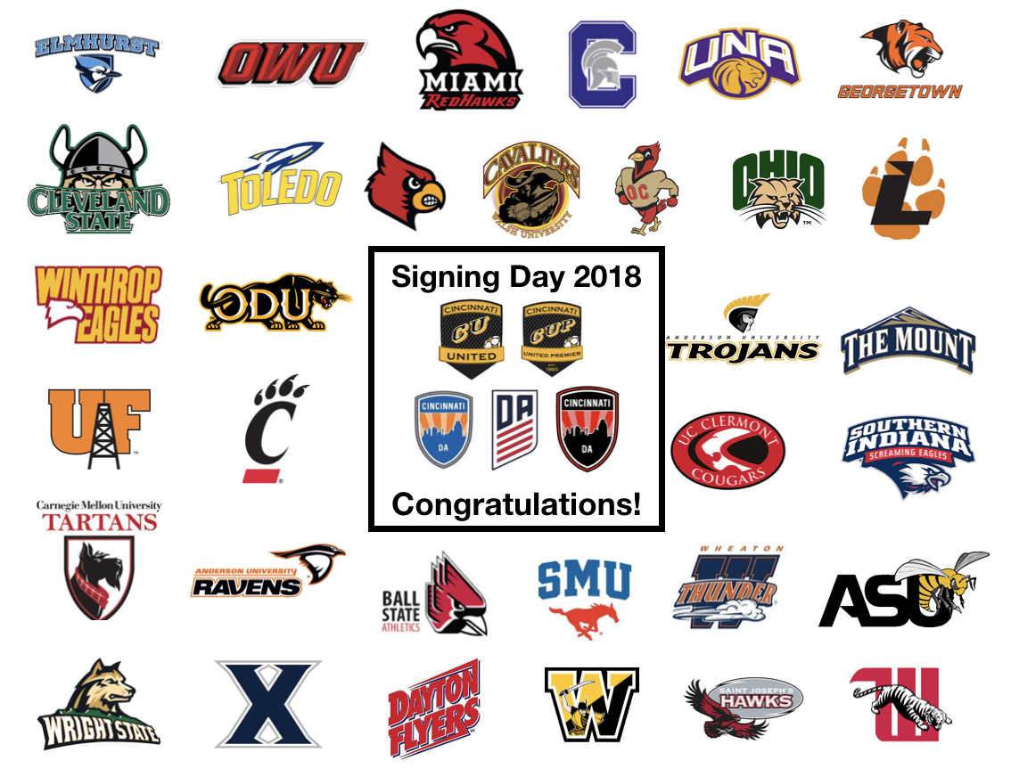 Cincinnati United Signing Day 2018