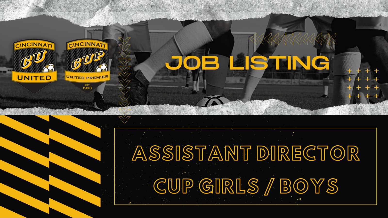 Job Listing: Assistant Director CUP Girls / Boys