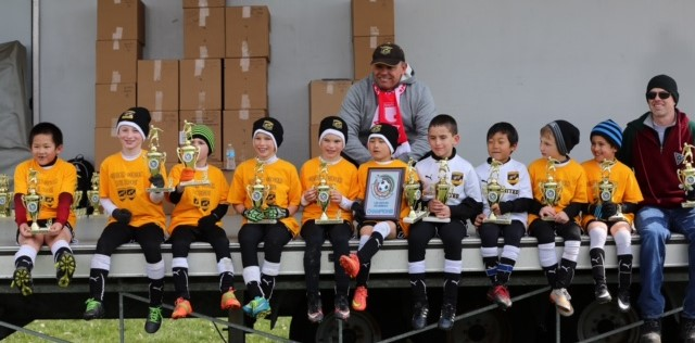 U8 boys Santa Fe team wins Middletown Blast Tournament